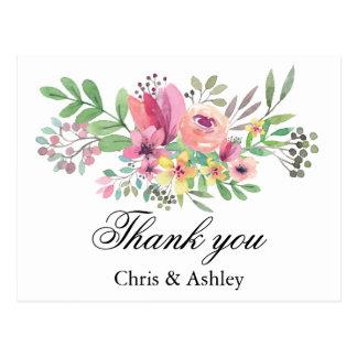 Merci par carte de remerciements de ménages mariés