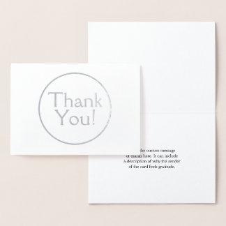 """""""Merci personnalisé et customisé !"""" Carte"""