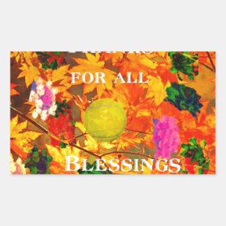 Merci pour des bénédictions sticker rectangulaire