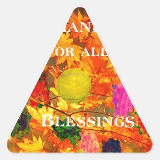 Merci pour des bénédictions sticker triangulaire