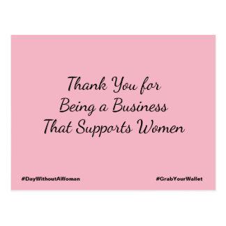Merci pour être des affaires qui soutiennent des cartes postales