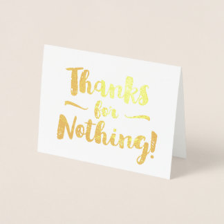 Merci pour rien fantaisie carte dorée