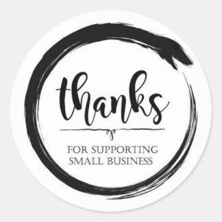Merci pour soutenir la petite entreprise sticker rond