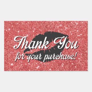 Merci pour votre achat sticker rectangulaire