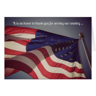 Merci pour votre carte de voeux militaire de