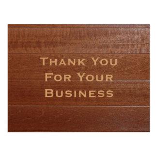 Merci pour votre carte postale d'affaires