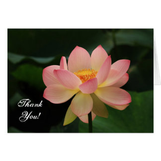 Merci rose de bouddhiste de fleur de Lotus de Carte