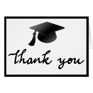 Merci simple de casquette d'obtention du diplôme carte de vœux