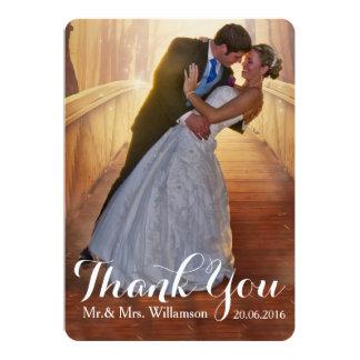 Merci simple de photo de mariage carton d'invitation  12,7 cm x 17,78 cm