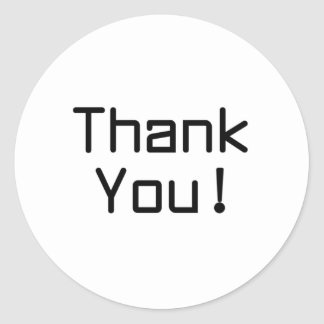 Merci Sticker Rond