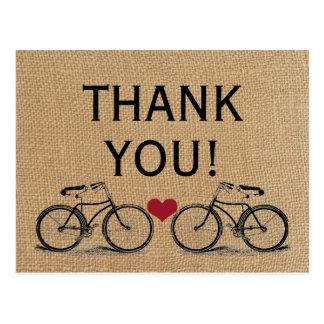 Merci vintage de bicyclette épousant des cartes
