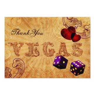 Merci vintage de Vegas de matrices pourpres Carton D'invitation 12,7 Cm X 17,78 Cm