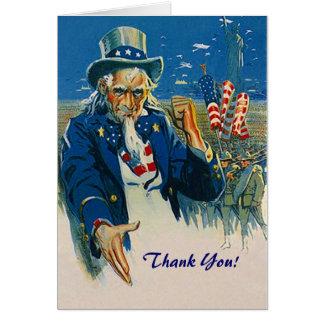 Merci vintage d'Oncle Sam pour votre carte de