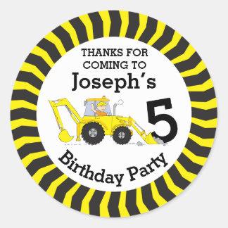 Merci vous badine l'autocollant d'anniversaire de sticker rond