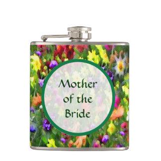 Mère de épouser floral d'impressions de jeune flasques
