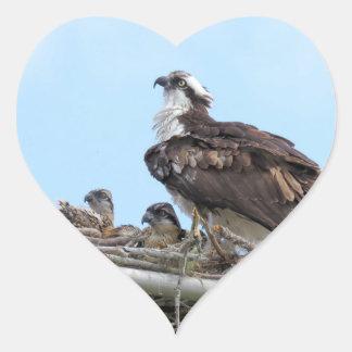Mère de faucon de balbuzard et autocollants de