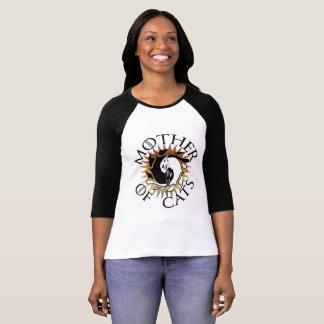 Mère de tee - shirt de raglan de chats t-shirt