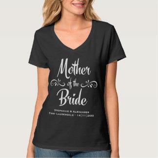 Mère du dîner drôle de répétition de jeune mariée t-shirt