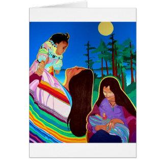 Mère et enfant carte de vœux