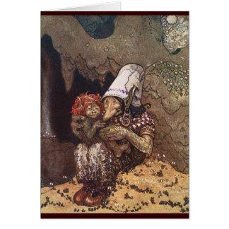 Mère et enfant de Troll par John Bauer Carte De Vœux