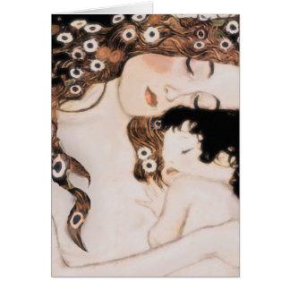 Mère et enfant Gustav Klimt Carte De Correspondance