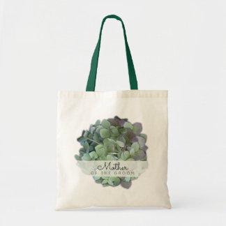 Mère florale verte de mariage du marié sac en toile budget
