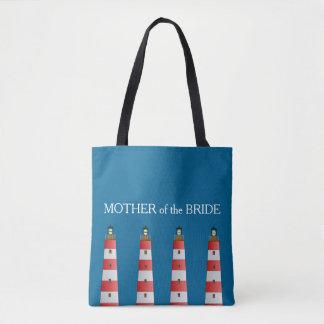 Mère moderne de mariage de plage de phare de jeune sac