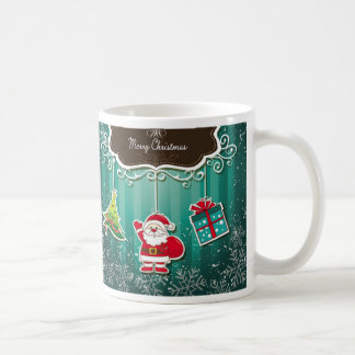 Merry Christmas Blue Mug