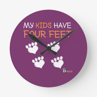 Mes enfants ont quatre pieds horloge ronde
