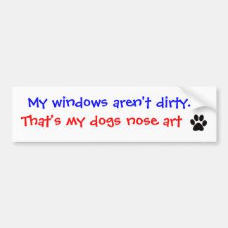 Mes fenêtres ne sont pas sales. Adhésif pour pare- Autocollant De Voiture