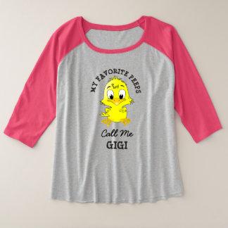 Mes piaulements préférés m'appellent chemise de