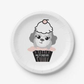 mes plats de partie de pupcake de lil assiettes en papier