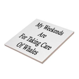 Mes week-ends sont pour prendre soin des baleines carreau