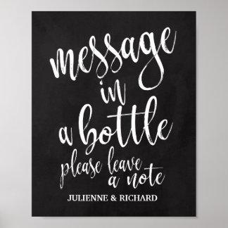 Message dans un signe de mariage de tableau de la