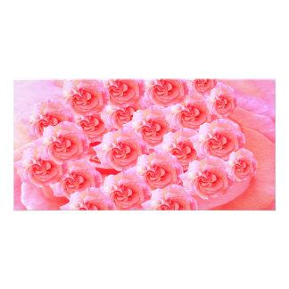 Message de Goodluck avec des fleurs Modèle Pour Photocarte