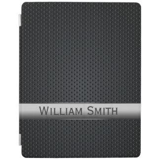 Métal foncé rayé en acier protection iPad