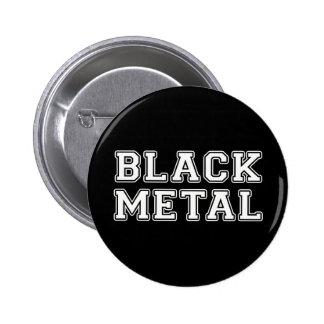 Métal noir badge rond 5 cm