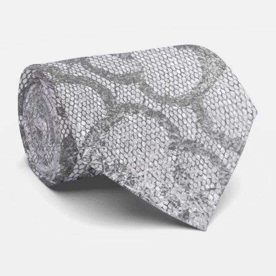 Métallique gai de dentelle d'argent royal moderne cravate