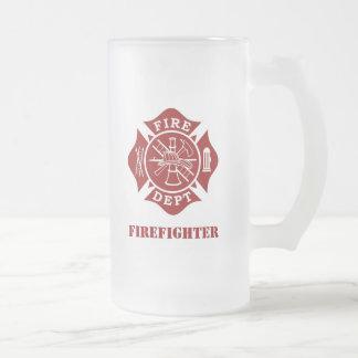 Mettez le feu au département/à la tasse en verre