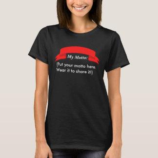 Mettez le T-shirt de votre femme de devise ici