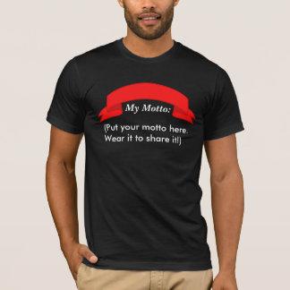 Mettez le T-shirt de votre homme de devise ici