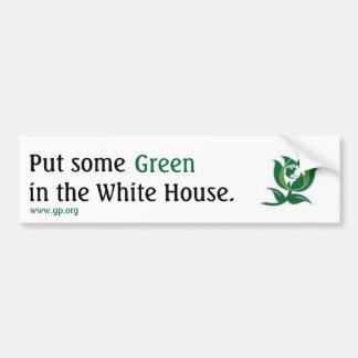 Mettez un certain vert dans la Maison Blanche v2 Autocollant De Voiture