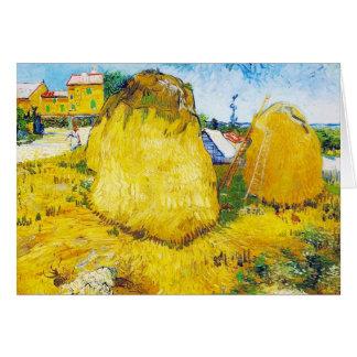 Meules de foin en Provence par Vincent van Gogh Carte