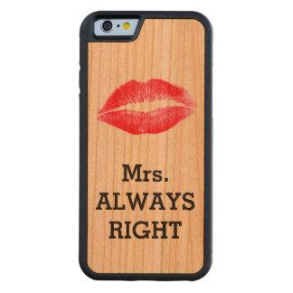Mevr. Always Right Funny Kersen iPhone 6 Bumper Case