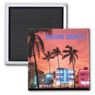 Miami Beach, la Floride Magnet Carré