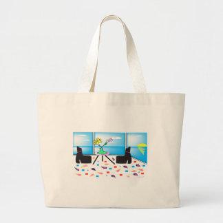 Miami coloré lunatique génial, graphique sac en toile jumbo