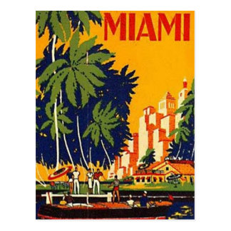 Miami vintage, la Floride, Etats-Unis - Carte Postale