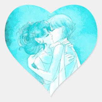 Michiru et Haruka - autocollant de mariage