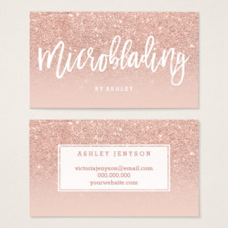 Microblading de elegante typografie bloost nam visitekaartjes