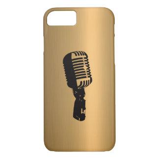 Microphone sur l'effet de cuivre en bronze coque iPhone 7